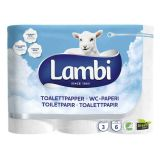 Lambi Luxury 3Ply Toilet Rolls White - Pallet