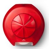 Bay West 82303 3 Roll Toilet Roll System Dispenser Red