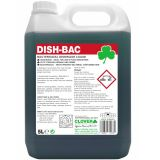 Clover 221 Dish-Bac Bactericidal Washing Up Liquid 5 Litre