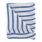 Colour Coded Hygiene Striped Dishcloth Blue