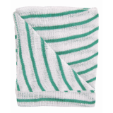 Colour Coded Hygiene Striped Dishcloth Green