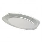 """Oval Silver Foil Serving Trays 17"""""""