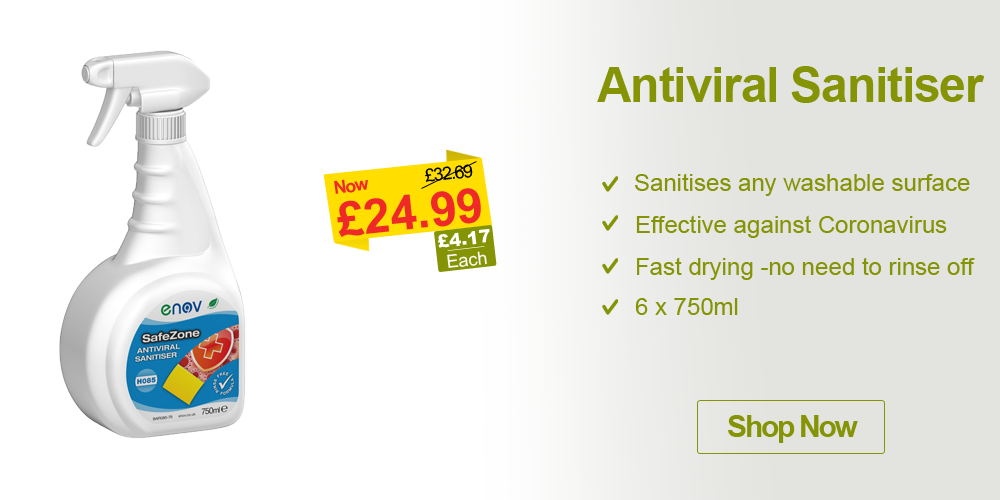 cleaning products antiviral sanitiser offer campaign banner