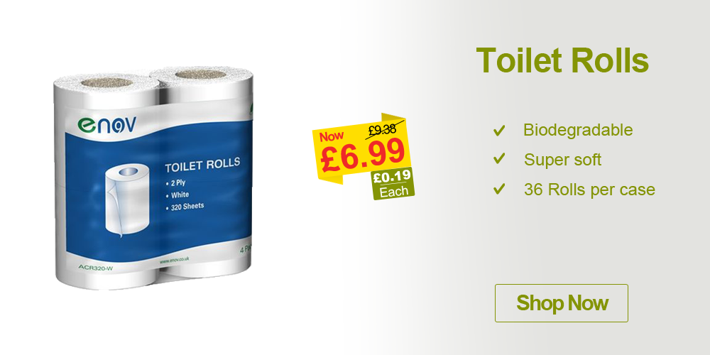 cleaning products enov toilet rolls offer campaign banner